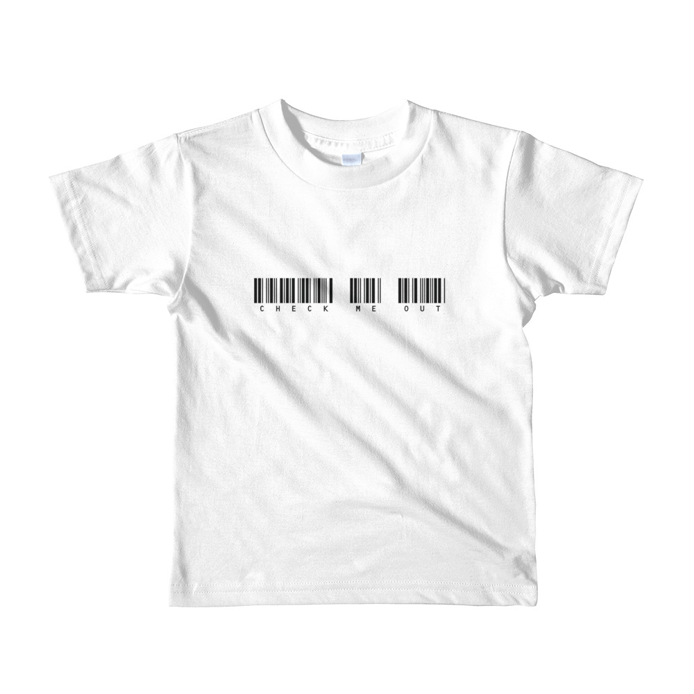 Check Me Out Toddler Tshirt White