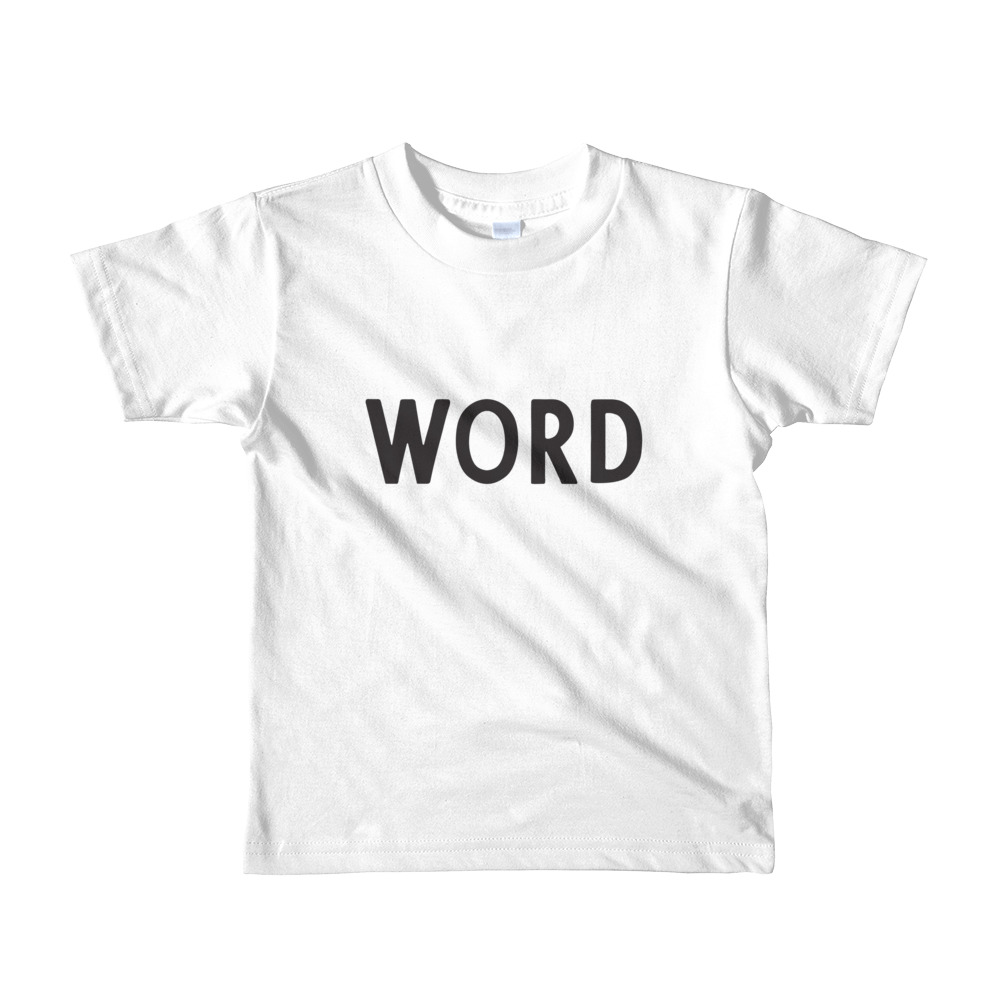 WORD Toddler Tshirt White