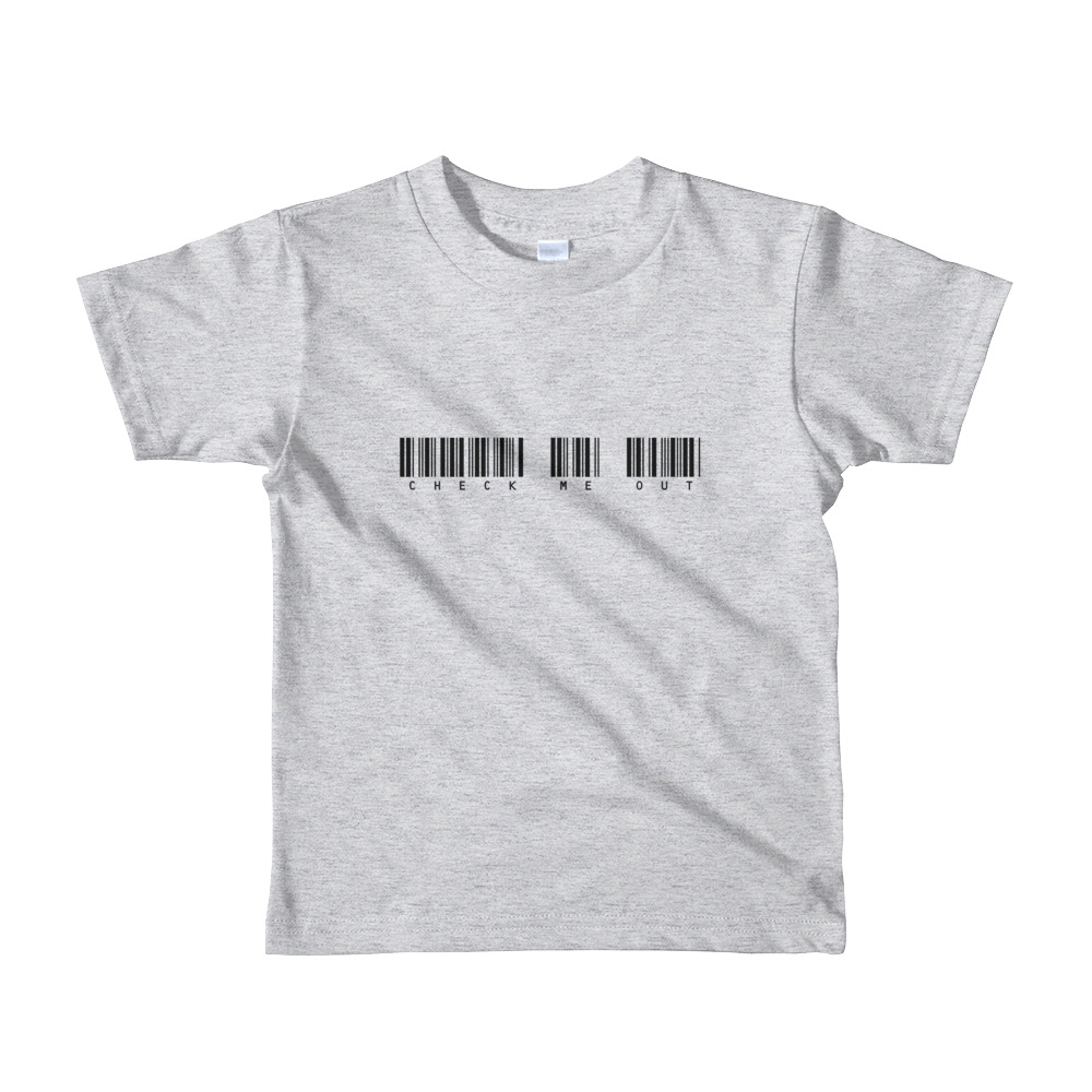 Check Me Out Toddler Tshirt Grey