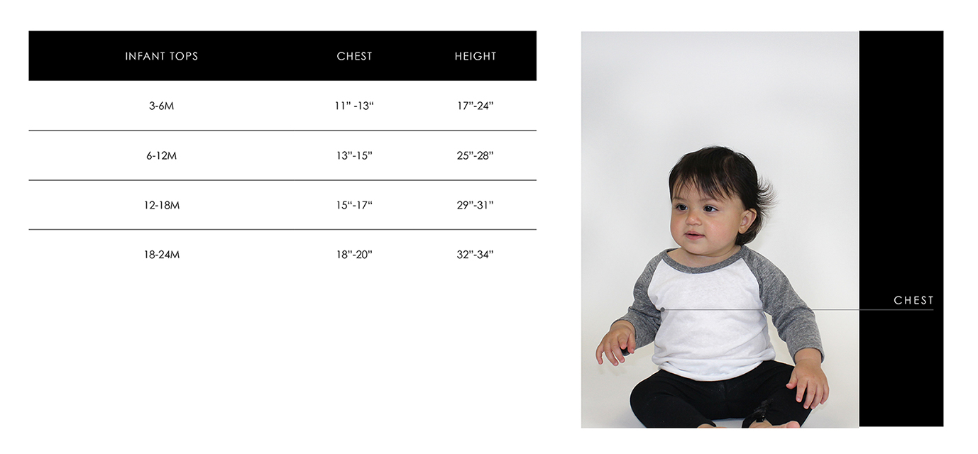 Infant Size Guide