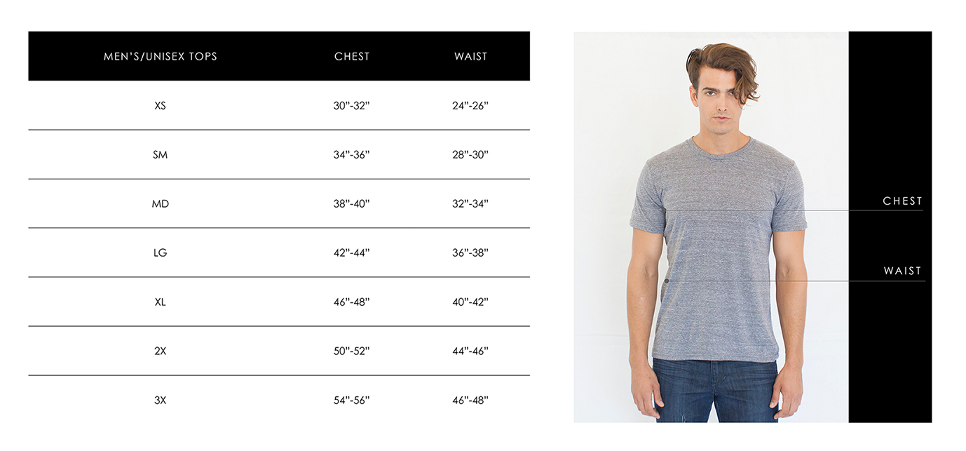 Unisex Size Guide