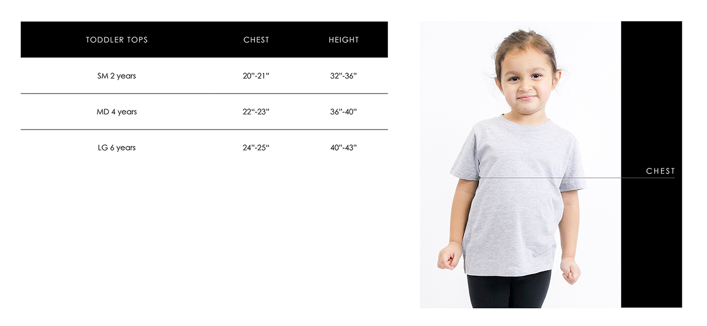 Toddler Size Guide