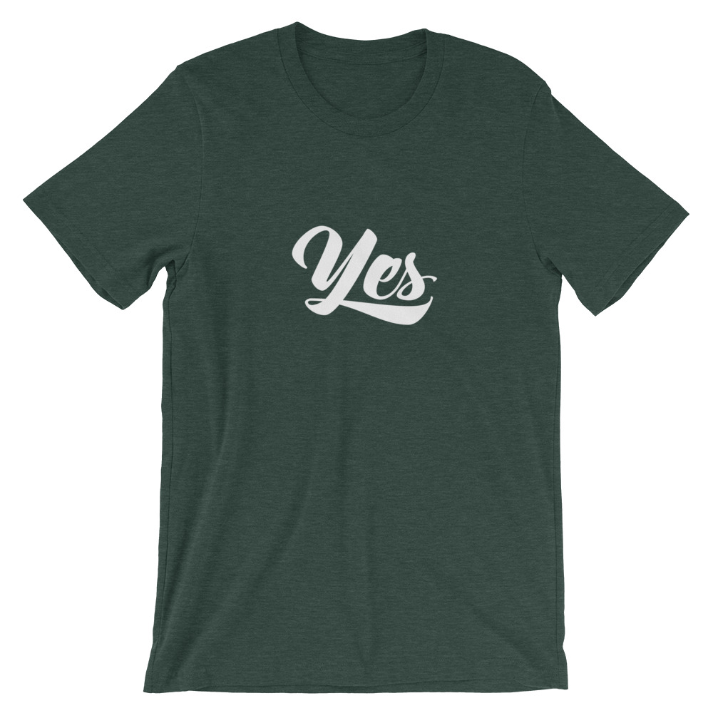 Yes crewneck tshirt